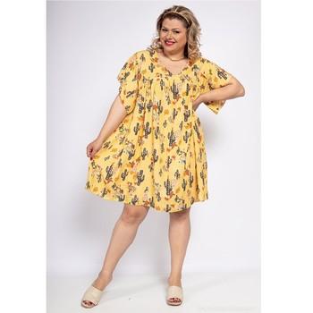 Ruhák Női Rövid ruhák Fashion brands DIABOLE-COLOR-ONE-JAUNE Citromsárga