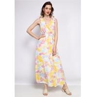 Ruhák Női Hosszú ruhák Fashion brands R185-JAUNE Citromsárga