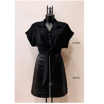Ruhák Női Blúzok Fashion brands ERMD-13819-N-BLACK Fekete