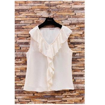 Ruhák Női Blúzok Fashion brands ERMD-13797-CP-BLANC Fehér