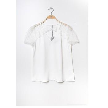 Ruhák Női Blúzok Fashion brands K5518-WHITE Fehér
