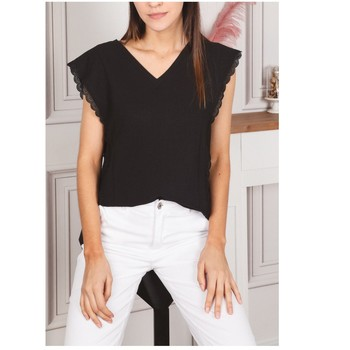 Ruhák Női Blúzok Fashion brands F2106-BLACK Fekete