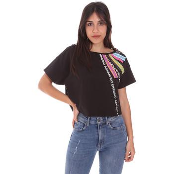 Ruhák Női Rövid ujjú pólók Ea7 Emporio Armani 3KTT40 TJ39Z Fekete