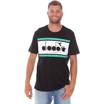 Ruhák Férfi Rövid ujjú pólók Diadora 502176632 Fekete