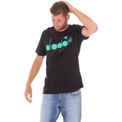 Ruhák Férfi Rövid ujjú pólók Diadora 502176633 Fekete