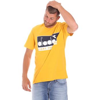 Ruhák Férfi Rövid ujjú pólók Diadora 502175835 Sárga