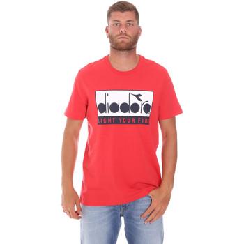 Ruhák Férfi Rövid ujjú pólók Diadora 502175835 Piros