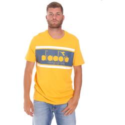 Ruhák Férfi Rövid ujjú pólók Diadora 502176632 Sárga