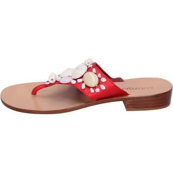 Cipők Női Lábujjközös papucsok Eddy Daniele AW374 Piros
