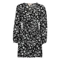 Ruhák Női Rövid ruhák Moony Mood PAPIS Fekete  / Fehér
