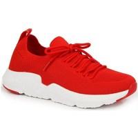 Cipők Női Rövid szárú edzőcipők American Club INT1099C Piros