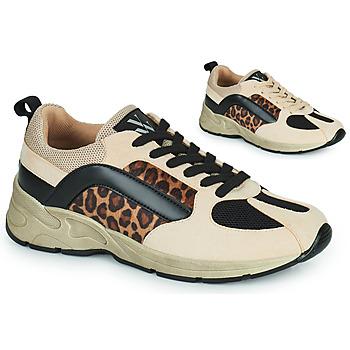 Cipők Női Rövid szárú edzőcipők Vanessa Wu LOMBARDE Bézs
