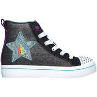 Cipők Lány Magas szárú edzőcipők Skechers Twilites Patch Cuties Fekete