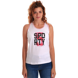 Ruhák Női Trikók / Ujjatlan pólók Key Up 5G60S 0001 Fehér