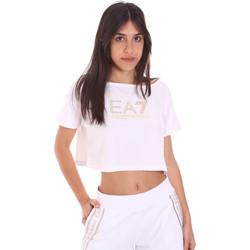 Ruhák Női Rövid ujjú pólók Ea7 Emporio Armani 3KTT03 TJ28Z Fehér