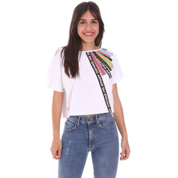 Ruhák Női Rövid ujjú pólók Ea7 Emporio Armani 3KTT40 TJ39Z Fehér