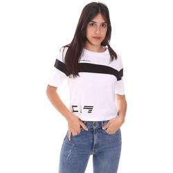 Ruhák Női Rövid ujjú pólók Ea7 Emporio Armani 3KTT05 TJ9ZZ Fehér