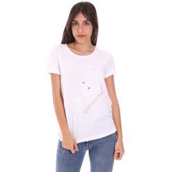 Ruhák Női Rövid ujjú pólók Ea7 Emporio Armani 3KTT28 TJ12Z Fehér