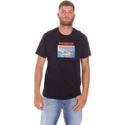 Ruhák Férfi Rövid ujjú pólók Sundek M047TEJ7800 Fekete