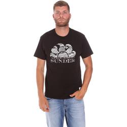 Ruhák Férfi Rövid ujjú pólók Sundek M027TEJ78ZT Fekete