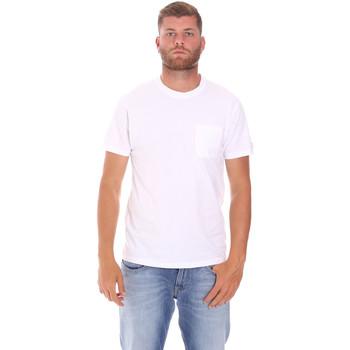 Ruhák Férfi Rövid ujjú pólók Sundek M050TEJ9300 Fehér