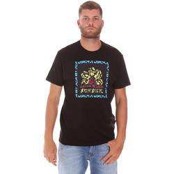 Ruhák Férfi Rövid ujjú pólók Sundek M021TEJ78FL Fekete