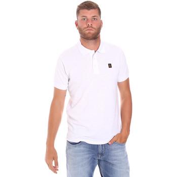Ruhák Férfi Rövid ujjú galléros pólók Refrigiwear RM0T25900PQ9002 Fehér