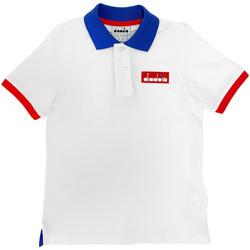 Ruhák Gyerek Rövid ujjú galléros pólók Diadora 102175907 Fehér
