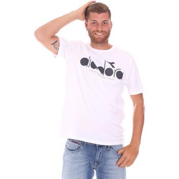 Ruhák Férfi Rövid ujjú pólók Diadora 502176633 Fehér