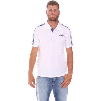 Ruhák Férfi Rövid ujjú galléros pólók Diadora 102175672 Fehér