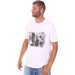 Ruhák Férfi Rövid ujjú pólók Diadora 102175861 Fehér