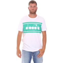 Ruhák Férfi Rövid ujjú pólók Diadora 502176632 Fehér