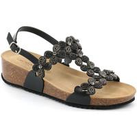 Cipők Női Szandálok / Saruk Grunland SB1595 Fekete