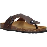 Cipők Női Lábujjközös papucsok Docksteps DSW229001 Barna