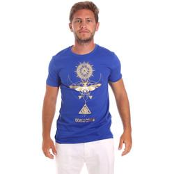 Ruhák Férfi Rövid ujjú pólók Roberto Cavalli HST65B Kék