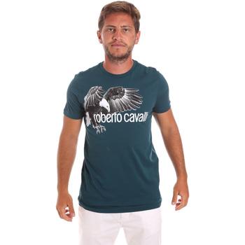 Ruhák Férfi Rövid ujjú pólók Roberto Cavalli HST68B Zöld