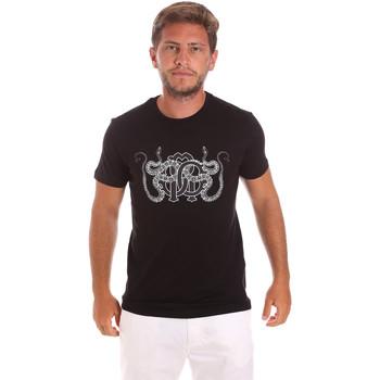 Ruhák Férfi Rövid ujjú pólók Roberto Cavalli HST66B Fekete