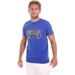 Ruhák Férfi Rövid ujjú pólók Roberto Cavalli HST66B Kék
