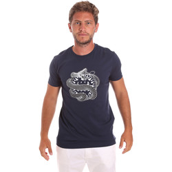 Ruhák Férfi Rövid ujjú pólók Roberto Cavalli HST64B Kék