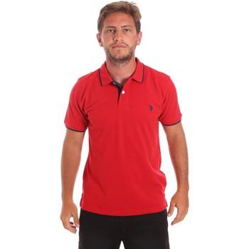 Ruhák Férfi Rövid ujjú galléros pólók U.S Polo Assn. 51139 49785 Piros