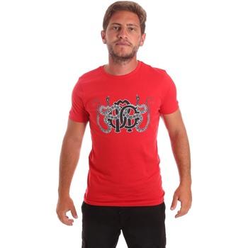 Ruhák Férfi Rövid ujjú pólók Roberto Cavalli HST66B Piros
