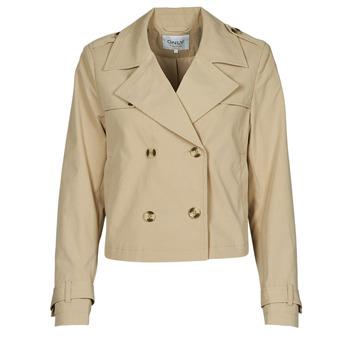 Ruhák Női Kabátok / Blézerek Only ONLSANDIE Bézs
