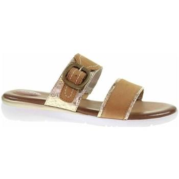 Cipők Női Papucsok Jana 882710726339 Barna