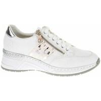 Cipők Női Rövid szárú edzőcipők Rieker N432280 Fehér