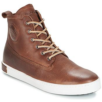 Cipők Férfi Magas szárú edzőcipők Blackstone INCH WORKER ON FOXING FUR Barna