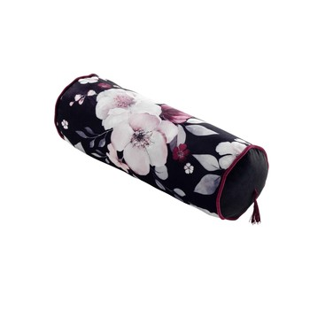 Otthon Párnák Douceur d intérieur VELVET FLOWER Fekete
