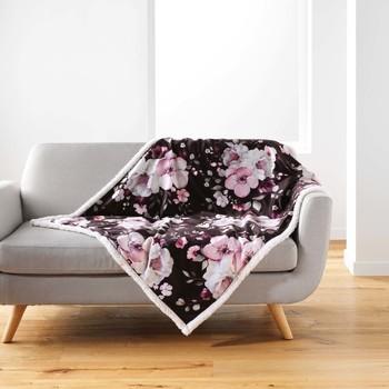 Otthon Plédek Douceur d intérieur VELVET FLOWER Barna