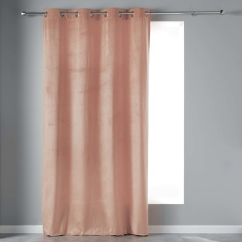 Otthon Függönyök és árnyékolók Douceur d intérieur VELVETINE Rózsaszín / Drazsé