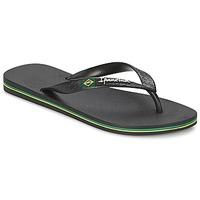 Cipők Női Lábujjközös papucsok Ipanema CLASSICA BRASIL II Fekete