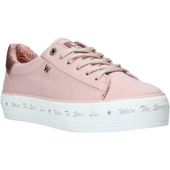 Cipők Női Rövid szárú edzőcipők Wrangler WL01645A Rózsaszín